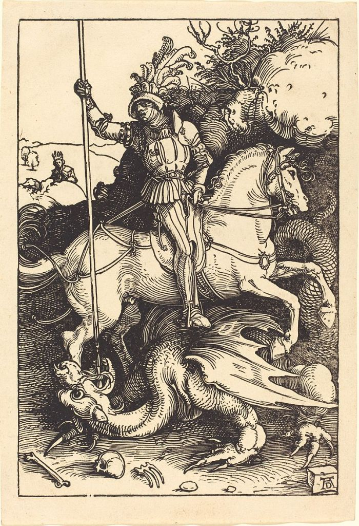 Albrecht_Dürer_-_Saint_George_Killing_the_Dragon_(NGA_1943.3.3597)